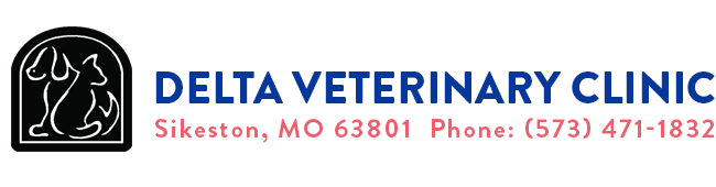 Logo for Delta Veterinary Clinic Sikeston, Missouri