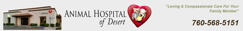 Logo for Veterinarians in Palm Desert, California | Animal Hospital of Desert