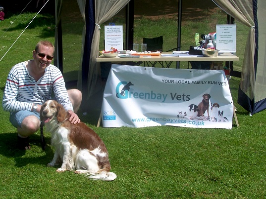 John and Burdock at Cockington Dog day last year